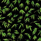 Seamless Background, Bamboo Leaves Royalty Free Stock Image
