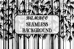 Seamless Background, Bamboo Silhouettes Royalty Free Stock Image