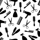 Seamless background with barber equipment Royalty Free Stock Photo