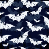 Seamless background with bats. Royalty Free Stock Image