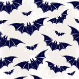 Seamless background with bats. Royalty Free Stock Photography