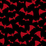 Seamless background with bats Stock Photography