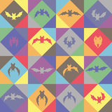 Seamless background. Bats. Stock Photo