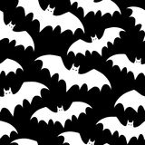 Seamless background with bats. Vector illustration. Stock Image