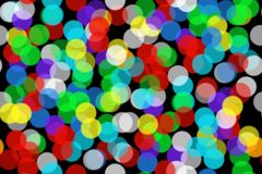 Seamless Background Beautiful Bokeh from colored circles stock photography