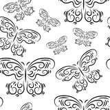 Seamless background with beautiful butterflies Royalty Free Stock Photos