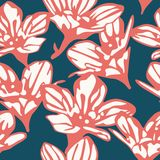 Seamless background with beautiful flowers. Floral pattern. Vector illustration stock illustration