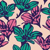Seamless background with beautiful flowers. Floral pattern. Vector illustration vector illustration