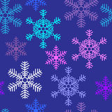 Seamless background with beautiful snowflakes Christmas Stock Photos