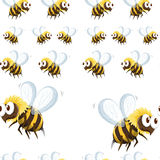 Seamless background with bee flying Stock Photography