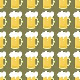 Seamless background with beer  Stock Photos