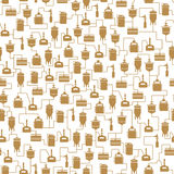 Seamless background with beer brewing process Stock Photography