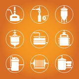 Seamless background with beer brewing process Stock Images
