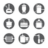 Seamless background with beer brewing process Royalty Free Stock Image