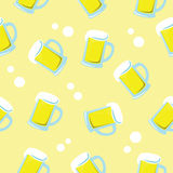 Seamless background of beer Stock Images