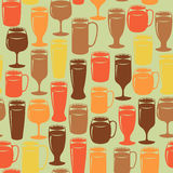 Seamless background with beer glasses Royalty Free Stock Photo