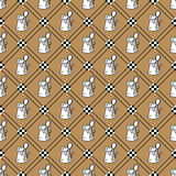 Seamless background with beer mugs. National holiday Germanys Oktoberfest beer. Seamless pattern with beer mugs. Patterns can be used as background, fabric print Stock Images