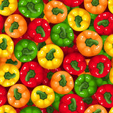 Seamless background with bell peppers. Royalty Free Stock Photography