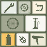 Seamless background with bicycle icons vector illustration