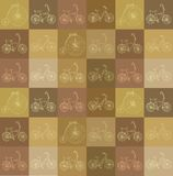 Seamless background with bicycles Royalty Free Stock Photography