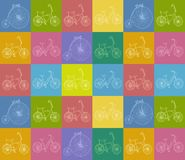 Seamless background with bicycles Royalty Free Stock Image