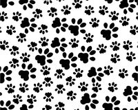 Seamless background from black animals tracks Royalty Free Stock Images