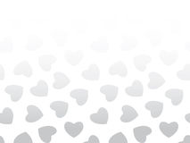 Seamless background of black hearts on white Stock Photography