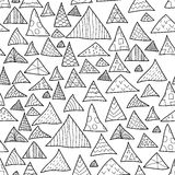 Seamless background, black and white hipster pattern Stock Photography