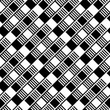 Seamless background with black and white squares Stock Photos