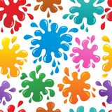 Seamless background with blots 1 Royalty Free Stock Photo