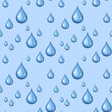 Seamless background with blue drops. Seamless blue background with drops of water stock illustration