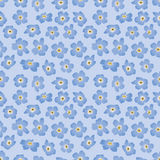 Seamless background with blue flowers. Seamless pattern background with blue flowers forget-me-not Stock Images
