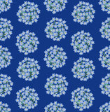 Seamless background with blue flowers. Seamless pattern background with circle bouquets of blue flowers forget-me-not Royalty Free Stock Images