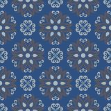 Seamless background. Blue and gray floral pattern. For wallpapers, textile and fabrics Stock Photo