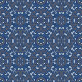 Seamless background. Blue and gray floral pattern. For wallpapers, textile and fabrics Royalty Free Stock Image