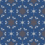 Seamless background. Blue and gray floral pattern. For wallpapers, textile and fabrics Stock Image