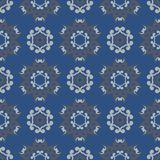 Seamless background. Blue and gray floral pattern. For wallpapers, textile and fabrics Royalty Free Stock Photography