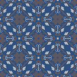 Seamless background. Blue and gray floral pattern. For wallpapers, textile and fabrics Stock Images