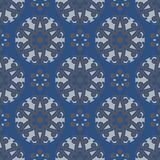 Seamless background. Blue and gray floral pattern. For wallpapers, textile and fabrics Stock Photography