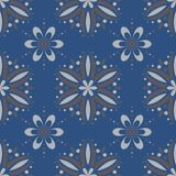 Seamless background. Blue and gray floral pattern. For wallpapers, textile and fabrics Royalty Free Stock Images