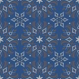 Seamless background. Blue and gray floral pattern. For wallpapers, textile and fabrics Royalty Free Stock Photo
