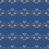 Seamless background. Blue and gray floral pattern. For wallpapers, textile and fabrics Royalty Free Stock Photos