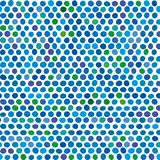 Seamless background of blue and green dots. Vector illustration. Seamless background of blue and green dots royalty free illustration