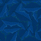 Seamless background of blue leaves.seamless pattern. Stock Image