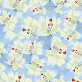 Seamless background with blue lilies.floral background Royalty Free Stock Photo
