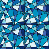 Seamless background with blue mosaic made of geometrical shapes. Seamless background with blue mosaic made of  triungles and geometrical shapes Stock Photo