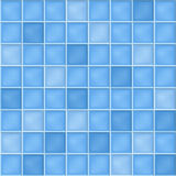 Seamless background with blue mosaic tiles. Vector seamless background with blue mosaic tiles royalty free illustration