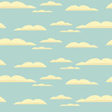 Seamless background with blue sky and clouds. Vector seamless background with blue sky and clouds Royalty Free Stock Photography