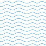 Seamless background of blue wavy lines. Vector illustration. Seamless background of blue wavy lines. Vector illustration Stock Photo