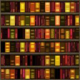 Books shelf illustration  Royalty Free Stock Images